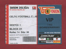 Orig.Ticket   04.07.2013  1.FC UNION BERLIN - CELTIC GLASGOW FC  !!  RARE
