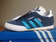 Adidas Super Samba Size 8 Blue Suede Deadstock 80s Retro Football Casuals
