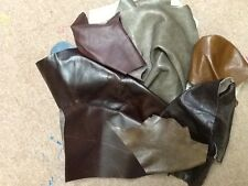 LEATHER HIDE OFFCUTS.1/2 KILO SOFT MIXED BROWNS 500 grams