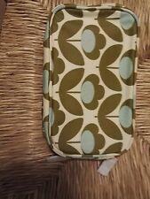 Orla Kiely ETC Oilcloth make-up cosmetic bag - Wild Meadow floral double zips