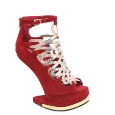 New Women's Strappy Gold Toned Heel Less Gaga Wedge Platforms 5 Colors 5.5 to 11