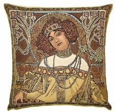 "NEW ALPHONSE MUCHA ""AUTUMN / AUTOMNE"" 18"" TAPESTRY CUSHION COVER 17G"