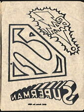 Vintage 1976 DC SUPERMAN LOGOS T-Shirt TRANSFER w 3 Logos UNUSED w INSTRUCTIONS