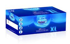 144 Condones Durex Xl condones Extra Large más gamas Amplio Marca CE. 57 mm