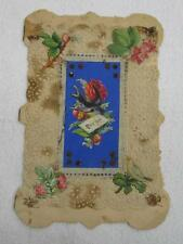 Early Hand Made & Written Lace Die Cut Paper Poem Valentines Day Card Vtg Old