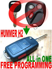 ALin1 FLIP KEY REMOTE FOR 2003-07 HUMMER H2 CHIP KEYLESS ENTRY TRANSPONDER FOB W