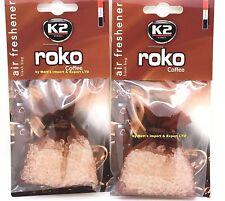 2x20g Caffè odore fresco da appendere Borsa Roko k2 Deodorante forte aroma profumo