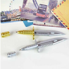 1Pc Knife Shape Dagger Ballpoint Pen Blue Ink Ballpen Writing Instrument Hot