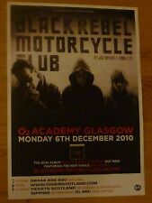 Black Rebel Motorcycle Club - Glasgow 2010 tour concert gig poster