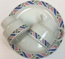 Midwinter Aztec Stonehenge Multicolor Geometric 4 Pc China Set Oven to Tableware