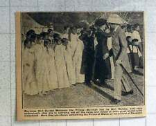 1921 Girl Guides In Burma Welcome The Prince Of Wales
