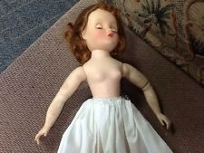 Madame Alexander Elise Doll 1957 Bride Dress Original Bridal Tag #1650 Needs