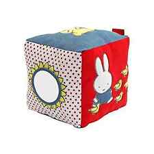 NEW Miffy Denim Activity Cube 15cm Cuddly Soft Toy Rainbow Designs