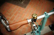 Ergonomic Leather Grips (MiniMODs) Compaptible with Brompton Birdy Mini Velo MTB