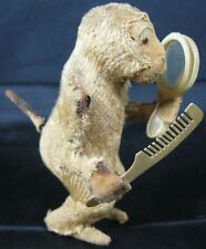 Antique Mohair Wind-Up Monkey Coming Hair As Is