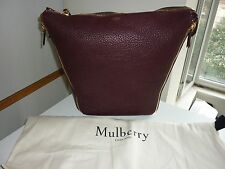 Mulberry Authentic Camden Textured Goat Leather Shoulder Bag K120 Burgundy BNWT