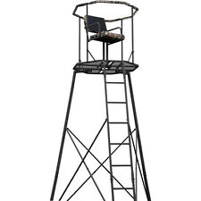 Hunting Shooting 300lbs Ladder Tripod Tree Stand 15' w/ RealTree Camo 360* Seat