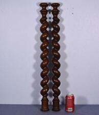 "30"" Antique Spiral Turned/Barley Twist Posts/Pillars/Columns in Oak Wood"