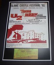 Thin Lizzy concert poster+ticket Slane Castle Co Meath Ireland 1981 Reprodution