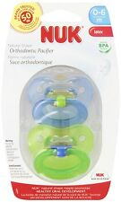 NUK Juicy Puller Latex Pacifier in Assorted Colors, 6-18 Months, New