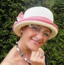 Damenhut  Panamahut sehr seltener Glockenhut  Cloche  Anlasshut   Hochzeit Sonne