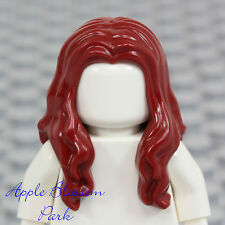 NEW Lego Girl Minifig Long DARK RED HAIR Pirate Female Wavy Minifigure Head Gear