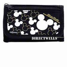 Disney Mickey Mouse Black Silver Wallet
