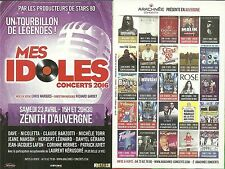 FLYER - MES IDOLES CONCERT LIVE A CLERMONT FERRAND / MICHELE TORR, DANYEL GERARD