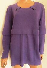 VOYAGE By MARINA RINALDI MAGLIONE  Sweater  TG. XL in LANA-SETA-CASHMERE Viola