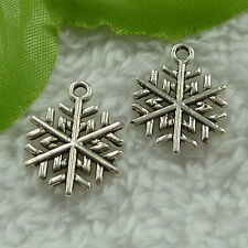free ship 280 pieces tibet silver snowflake charms 20x16mm #2696