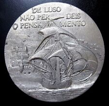 "AGE OF DISCOVERIES /CARRACK/TOWER OF BELEM / TIN MEDAL BY BERARDO / 3.5"" / N118"