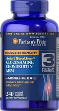 Puritan's Pride Double Strength Glucosamine Chondroitin 240 Caplets Made in USA