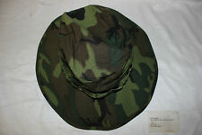 New Original Vietnam Era Boonie Hat in Tropical Camouflage Combat NOS