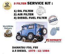Para Daihatsu DG F50 F55 2.5D 2530cc 4x4 1979-1984 Nuevo Conjunto De Filtro De Combustible Aire Aceite