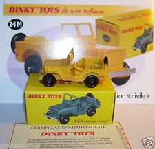 DINKY TOYS ATLAS JEEP version civile JAUNE REF 24 M 1/43 IN BOX