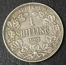 Almost Uncirculated South Africa 1 Shilling Foreign Silver Coin Free S/H
