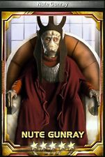 Star Wars Force Collection Nute Gunray 5 star base Guide Buy1Get2Free