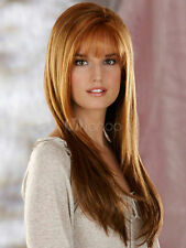 Hot Style! Fashion wig New Charm women's long Brown Blonde Straight Full wigs
