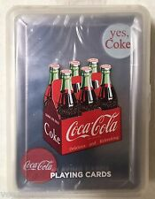 Coca-Cola Coke Deck Clear Plastic Playing Cards Poker Size USPCC Washable New