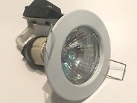 MAINS GU10 WHITE DIE CAST FIXED DOWN LIGHT FITTING BEST QUALITY CHEAP !!    dp1c