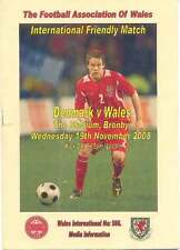 DENMARK v WALES 19 Nov 2008 at THE STADIUM, BRONBY FOOTBALL MEDIA INFO BOOKLET