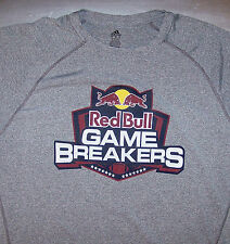 RED BULL GAME BREAKERS / AMERICAN FOOTBALL / ADIDAS VINTAGE GRAY T-SHIRT SIZE XL