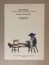 Invitación exposición Billy Childish, hoja volante, Galería L-13, 2012