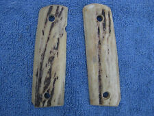 OLD VINTAGE GENUINE SAMBAR STAG GRIPS for COLT .45 Auto Government Model M 1911