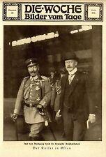 Der Kaiser in Essen beim Rundgang durch die Krupp'schen Stahlwerke 1918 *  WW1