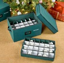 72 CHRISTMAS ORNAMENT STORAGE CASE BOX BIN Water Resistant Durable