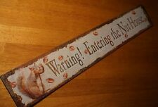 WARNING! ENTERING THE NUT HOUSE Funny Rustic Squirrel Acorn Home Decor Sign NEW