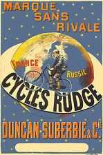 Vintage Cycles Poster Rudge 1890 13 x 19 Giclee print