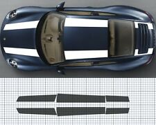 Porsche 911 (991)Bonnet /roof / Boot/ Spoiler Stripe Decal Set Plain. 911R style