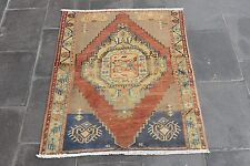Vintage Turkish Oushak Small Antique Hand Knotted Rug Pile Area Rug 40'' x 32''